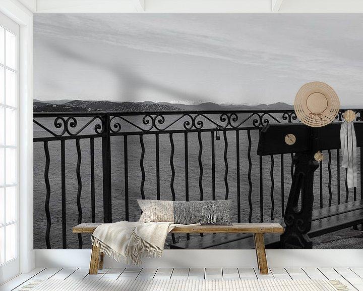Sfeerimpressie behang: View on the French Riviera van Tom Vandenhende