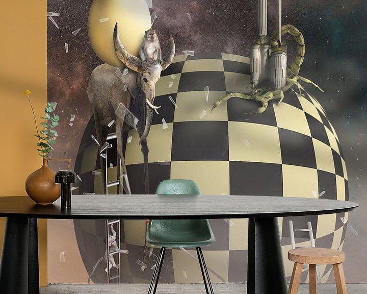 Sfeerimpressie behang: chaos in het universum van Dray van Beeck