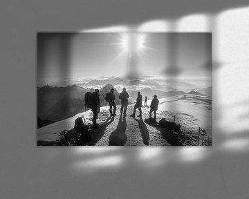 Au sommet du Mont Blanc sur Menno Boermans