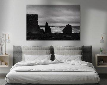 Schwarz-Weiß-Foto in Island - Reykjanesviti von RUUDC Fotografie