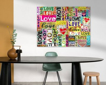 """Collage """"Love is everywhere"""" van Ina Wuite"""