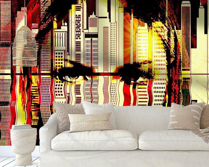 Beispiel fototapete: Girl in the big city von PictureWork - Digital artist