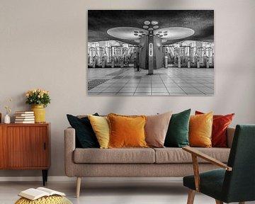 Die Bahnhofshalle des Bahnhofs Rotterdam Blaak in Rotterdam von MS Fotografie | Marc van der Stelt
