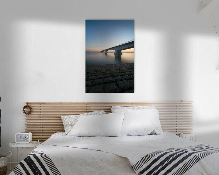 Sfeerimpressie: Zeelandbrug 's morgensvroeg van Roelof Nijholt