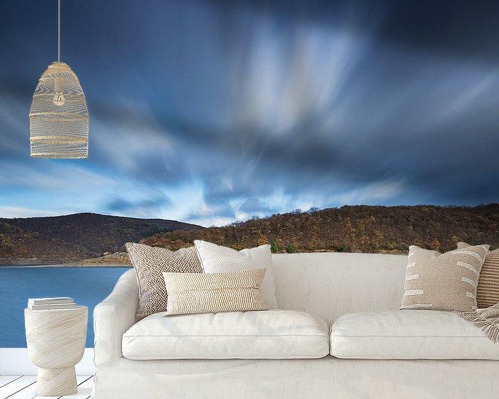 Sfeerimpressie behang: Moving clouds van Rob Christiaans