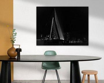 Erasmusbrug - Rotterdam in zwart-wit van Ineke Duijzer