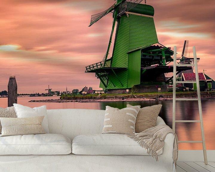 Beispiel fototapete: Zaanse Schans the colorful windmill village von Costas Ganasos