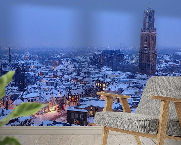 Beispiel fototapete: Schneebedeckte Stadt von Utrecht von Donker Utrecht