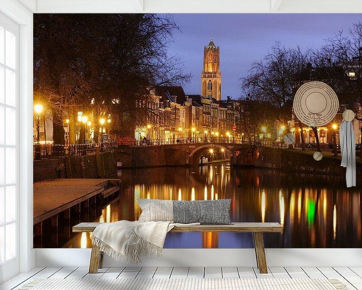 Beispiel fototapete: Zandbrug und Oudegracht Utrecht von Donker Utrecht