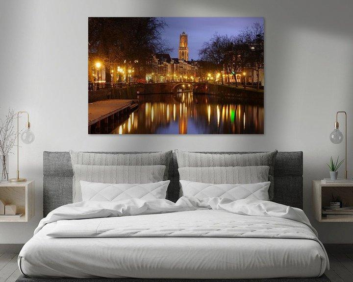 Beispiel: Zandbrug und Oudegracht Utrecht von Donker Utrecht
