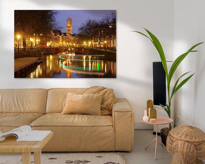 Beispiel: Ansicht von Zandbrug und von Oudegracht in Utrecht vom Bemuurde Weerd von Donker Utrecht