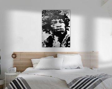 Jimi Hendrix Black and White von Felix von Altersheim