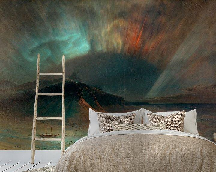 Beispiel fototapete: Aurora Borealis, Frederic Edwin Church