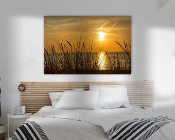 Zonsondergang op het strand von Willy Sybesma