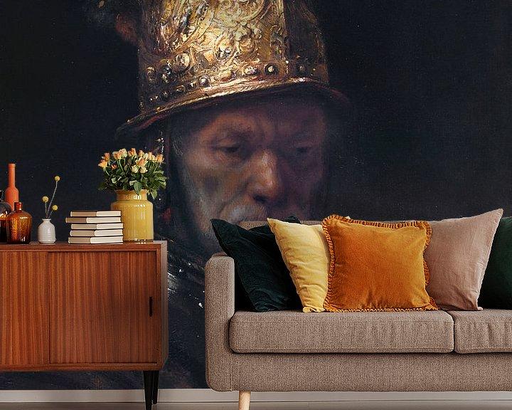Beispiel fototapete: Der Mann mit dem Goldhelm, Rembrandt van Rijn