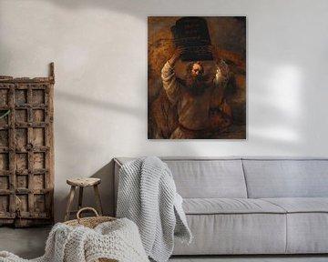 Moses zerschmettert die Gesetzestafeln, Rembrandt van Rijn