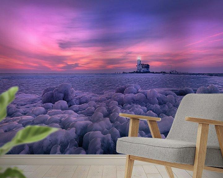 Beispiel fototapete: Cold sunrise in Marken von Costas Ganasos