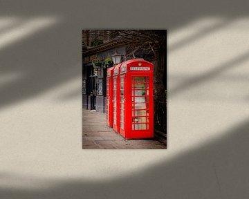 Britse telefooncel in Greenwich, Groot-Brittannië van Rietje Bulthuis