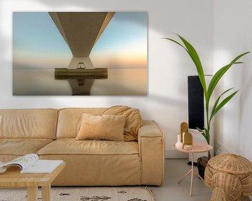 Zeelandbrug tijdens serene zonsondergang van Sander Hupkes