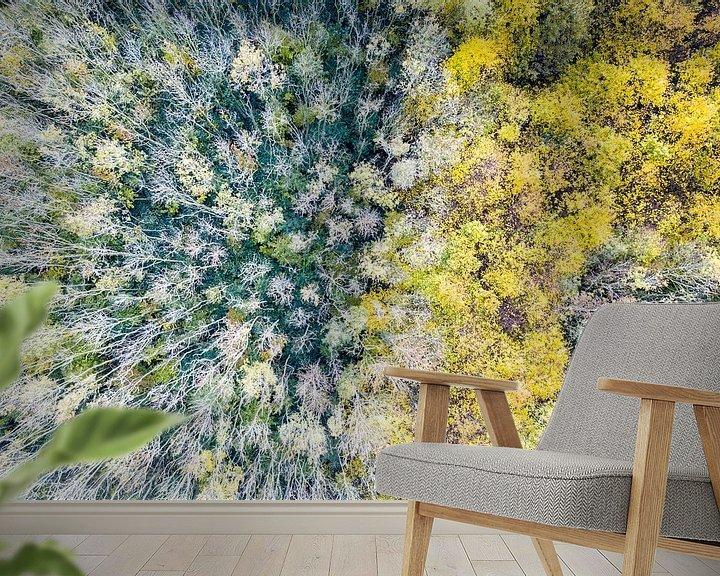 Sfeerimpressie behang: De herfst komt in zicht, vanuit de lucht van Gertjan koster
