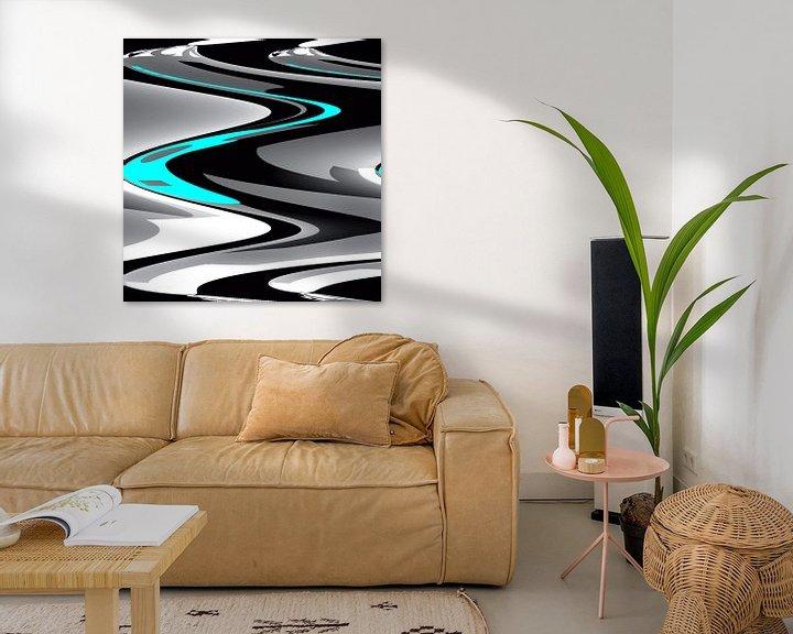 Beispiel: Waves Aqua von Nicky`s Prints