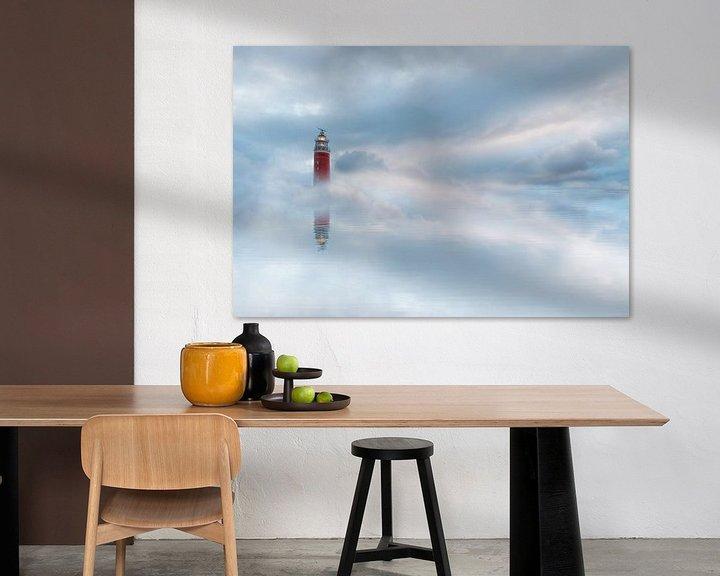 Beispiel: Leuchtturm in den Wolken von Lia Hulsbeek Brinkman