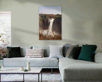 Machtige Victoria watervallen van Erna Haarsma-Hoogterp