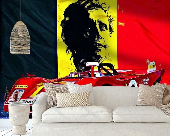 Beispiel fototapete: Legends Of Racing - Jacky Ickx von Jean-Louis Glineur alias DeVerviers