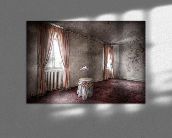 Beispiel: Rosa Wohnzimmer mit Flamingo von Marcel van Balken