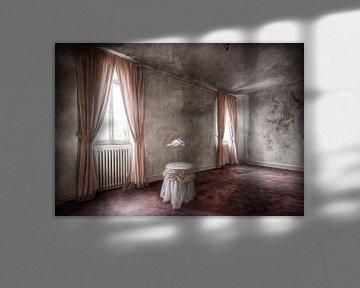 Rosa Wohnzimmer mit Flamingo von Marcel van Balken