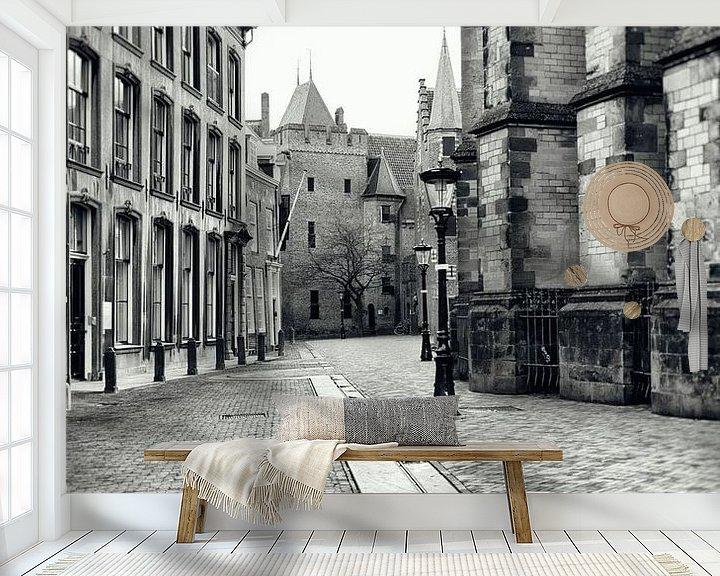 Sfeerimpressie behang: Achter de Dom in Utrecht.  (Utrecht2019@40mm nr 3) van De Utrechtse Grachten
