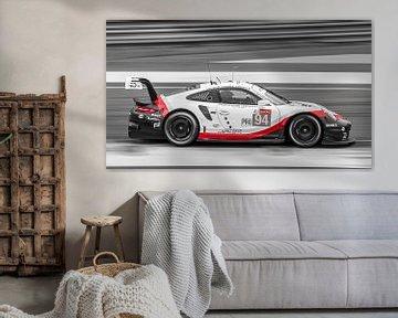 Schwarz / Weiß / Roter Porsche Le Mans von Richard Kortland