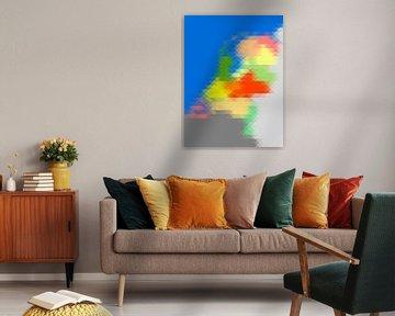 Driehoekskaart van Nederland - horizontaal