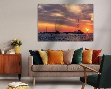 Zonsondergang Cafe del Mar Ibiza van Richard van der Woude