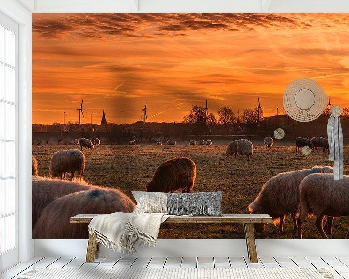 Sfeerimpressie behang: Zonsopkomst in Bocholtz van John Kreukniet