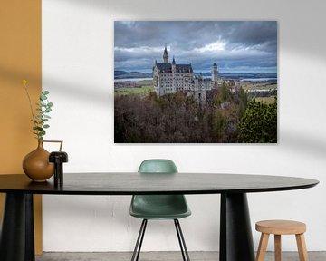 Neuschwanstein vanaf Marienbrücke van Margriet Photography