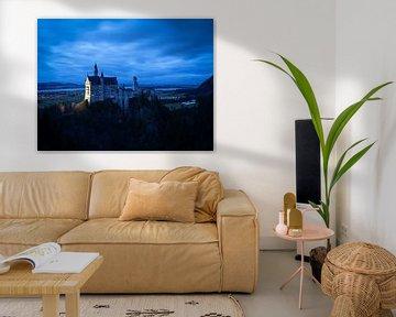 Neuschwanstein na zonsondergang van Margriet Photography