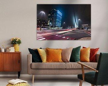 Rotterdam Wilhelminapier lighttrails sur Midi010 Fotografie