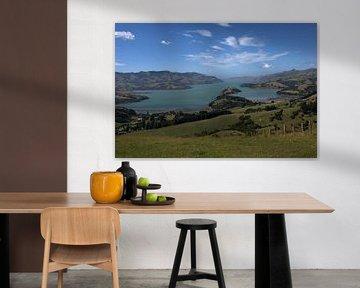 Banks Peninsula, Nieuw Zeeland van Jeroen van Deel