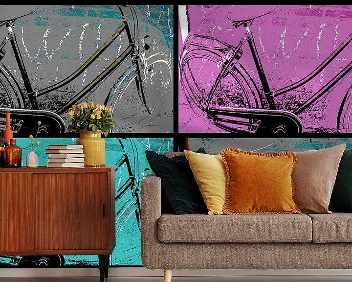 Beispiel fototapete:  Bicycle Collage von Nicky`s Prints