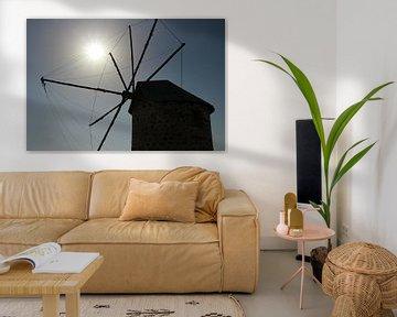 Oude windmolen in Turkije van Marieke Funke