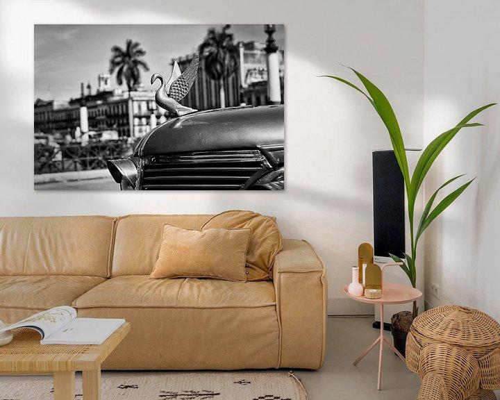 Sfeerimpressie: Havanna -  motorkap-ornament van klassieker van Theo Molenaar