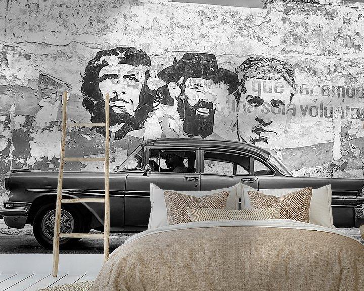 Sfeerimpressie behang: Havanna - klassieker en revolutionairen van Theo Molenaar