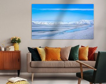 Stil landschap IJsland van Jo Pixel