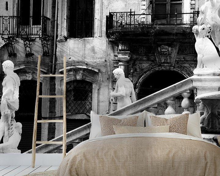 Beispiel fototapete: Piazza San Giuseppe, Palermo von Sven Zoeteman