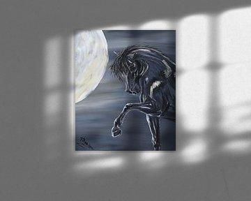 Paard en maan von Monique Schilder