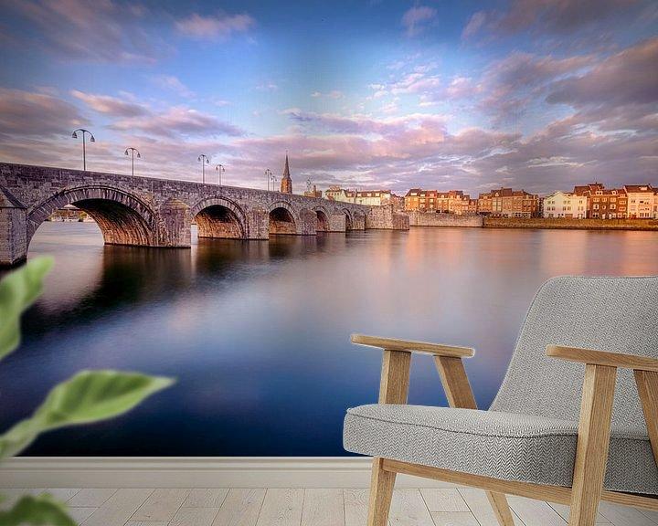 Beispiel fototapete: Sint-Servaas-Brücke, Maastricht von Johan Vanbockryck