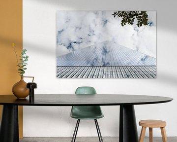One World Trade Center in de wolken van Bas de Glopper