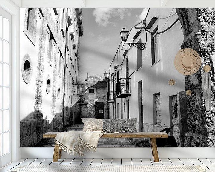 Beispiel fototapete: Gasse in Palermo von Sven Zoeteman