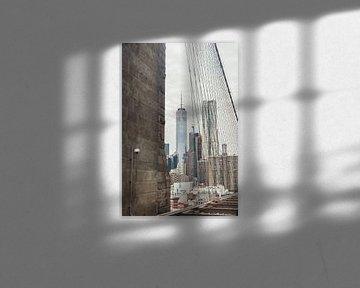 One World Trade Center en een beveiligingscamera van Bas de Glopper